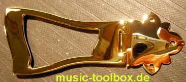 Deluxe Saitenhalter Gold